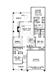 House Plans For Narrow Lot Stylish Plan For A Narrow Lot Hwbdo69203 Bungalow House Plan