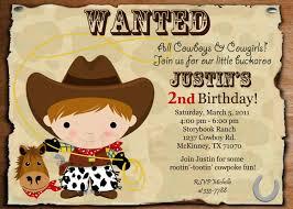 cowboy birthday invitations afoodaffair me