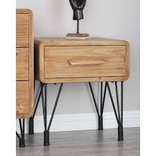 Wood And Metal End Table Modern Wood And Metal Side Table 55799 The Home Depot