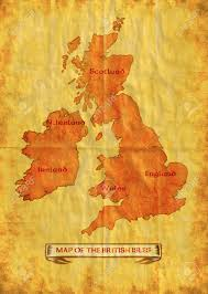 Map Of British Isles Illustration Drawing Of A Map Of The British Isles Showing
