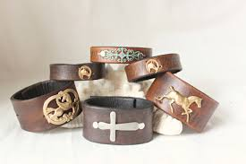 leather bracelet with cross images Leather bracelet with turquoise leather bracelet for women jpg