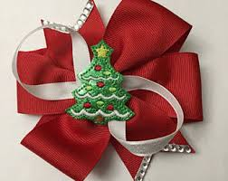 christmas tree bows christmas tree bow etsy