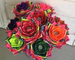 Duct Tape Flowers Vases And Pens Rainbow Duct Tape Etsy