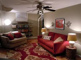 Basement Living Space Ideas Furniture Cool Basement Living Room Decorating Ideas With Red And