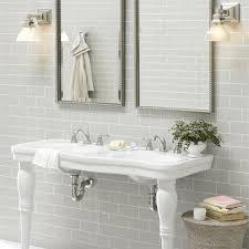 Light Grey Tiles Bathroom 20x10 New Biselado Lt Grey Tile Choice