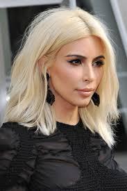platinum blonde bob hairstyles pictures kim kardashian straight platinum blonde bob hairstyle steal her