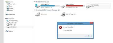 drive not accessible mybook access is denied please help external drives for pc wd