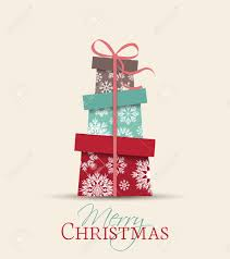 retro decorative christmas presents vector christmas card royalty