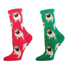 christmas socks antler pug christmas socks absolute socks