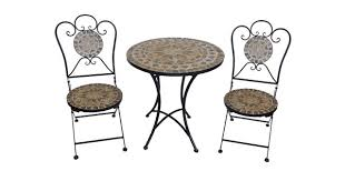 Metal Folding Bistro Chairs Wholesale Wrought Metal Mosaic Slate Bistro Set Foldable Chairs