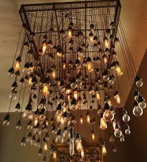 Chandelier With Edison Bulbs Exceptional Urban Industrial Chandelier Edison Bulb Chandelier