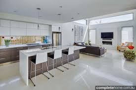 Neutral Kitchen Colour Schemes - light and bright indoor outdoor living completehome