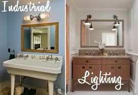 Lighting Fixtures Industrial by Beautiful Industrial Bathroom Lighting Industrial Vanity Light