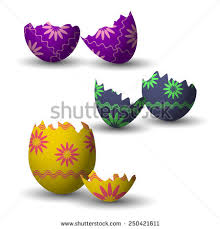 wooden easter eggs that open cracked easter egg stock images royalty free images vectors