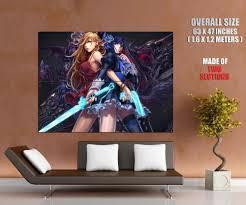 sexy anime girls with guns swords upskirt art wall print poster uk sexy anime girls with guns swords upskirt art