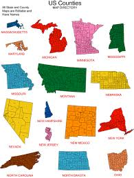 State And County Maps Of Maps For Design U2022 Editable Clip Art Powerpoint Maps Us State And