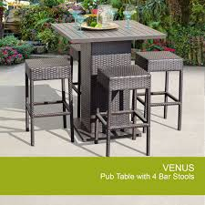 Wicker Outdoor Patio Set by 5 Piece Pub Table Set Wicker Outdoor Set Design Furnishings