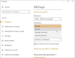 Laffichage De Lcran De Mon Pc Est Renvers Windows 10 Changer La Rotation De L écran Médiaforma