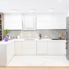 white kitchen backsplash with cabinets kitchen tile backsplashes tile the home depot