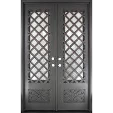 iron doors unlimited 62 in x 97 5 in luce lattice classic 3 4