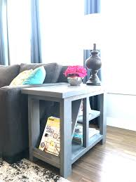 Rustic Side Tables Living Room Rustic Side Table With Magazine Rack Buildsomething
