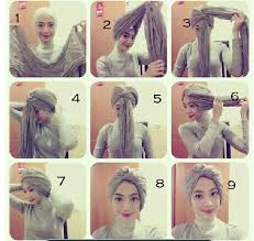 Tutorial Hijab Turban Untuk Santai | latest beautiful hijab styles tutorial 2017 18 different face shapes
