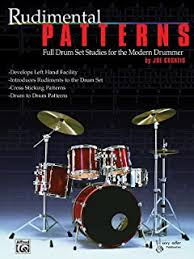 drum knitting pattern rhythmic patterns full drum set studies for the modern drummer joe