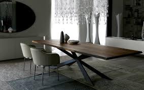 esstisch design modernes esstisch design cattelan italia stahlfuß und massivholz