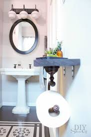 toilet paper holder shelf and bathroom accessoriesdiy show off