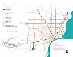 Map Of Detroit Michigan Map New Detroit Regional Master Transit Plan 2016 Detroitography