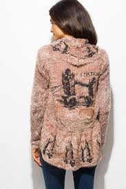Draped Cardigan Sweater Taupe Fuzzy Knit Open Draped Cardigan Sweater U2013 Velvet Bungalow
