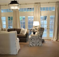 Curtains For Interior French Doors Window Treatment For A Wall Of French Doors Cote De Texas