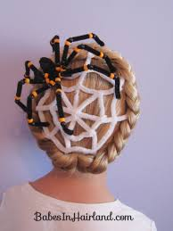 grey hair spray for halloween spiderweb hairstyle halloween hairstyles crazy hair day idea