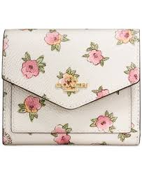 flower accessories coach small wallet in flower patch print coated canavas handbags
