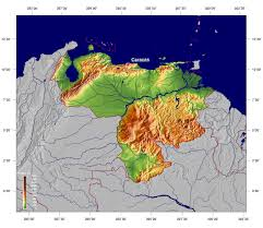 South America Physical Map by Large Detailed Physical Map Of Venezuela Venezuela South