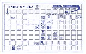 Merida Mexico Map by Hotel Location And Map