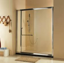 Sliding Shower Doors For Small Spaces Wall Mounted Gold Dual Shower Heads White Marble Tile Shower