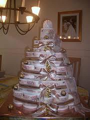 hochzeitstorte geldgeschenk eine torte aus toilettenpapier ein lustiges hochzeitsgeschenk