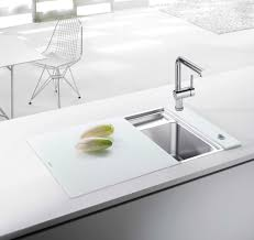 Kitchen Sink Ideas by Decorating Double Bowl Blanco Sinks Plus Matching Kitchen Faucet