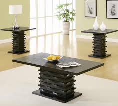 table sets contemporary 3 piece coffee table and end table set