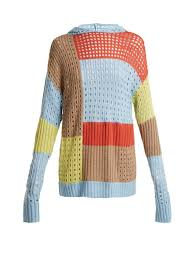 sweater house patchwork hooded wool blend sweater house of