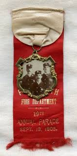parade ribbon 1905 portsmouth new hshire dept parade ribbon w