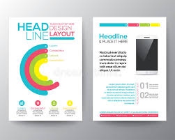 flyer graphic design layout graphic design layout with smart phone concept template stock vector