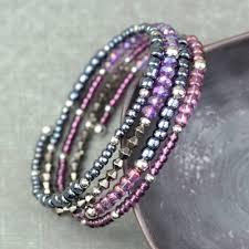 make bead bracelet wire images How to make memory wire beaded bracelet blitsy jpg