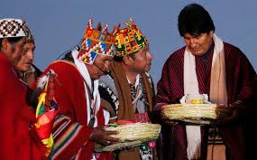 evo morales claman por la lluvia realizan ritos indígenas contra la sequía en