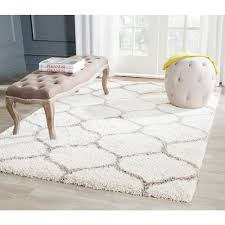 Area Rugs 6 X 10 Hudson Shag Ivory Gray 2 Ft 3 In X 8 Ft Runner Products