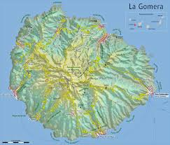 Canary Islands Map The Island Of La Gomera In The Canary Islands