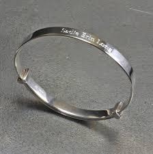 customized baby bracelets child s silver christening bangle by hersey silversmiths