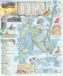 Map Quilt The Souvenir Map U0026 Guide Of Cedar Key Florida