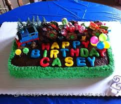 birthday train cake for 2 year old